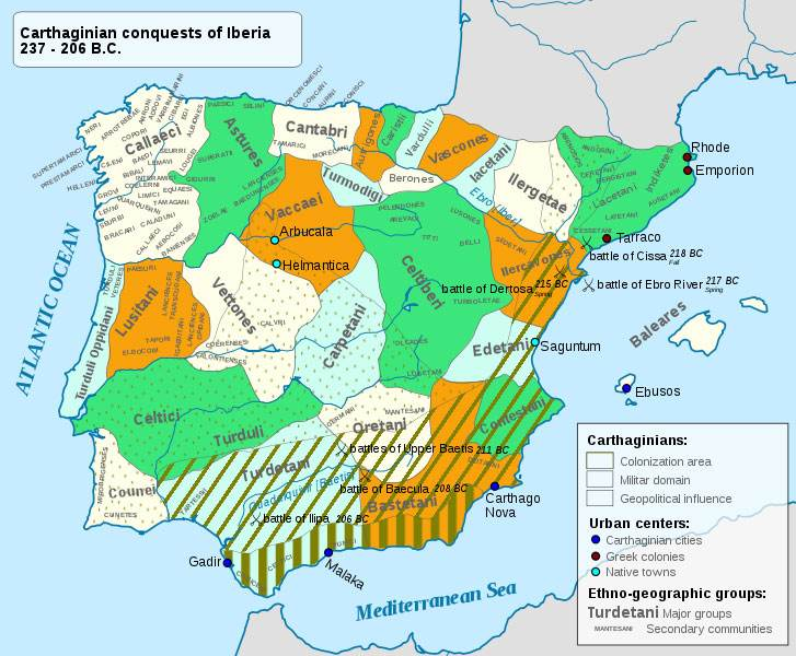 Carthaginian conquests of Iberia 237 – 206 B.C.