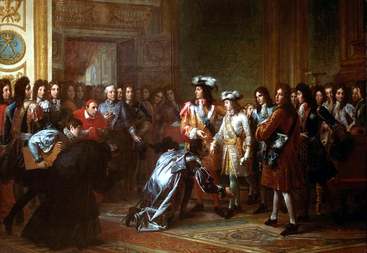 Philip accepts the Spanish throne as Philip V; November 16, 1700.