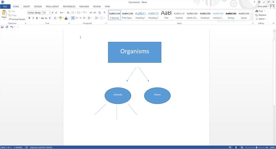word add basic shapes